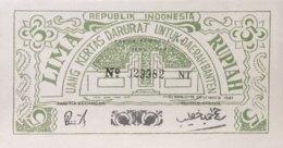 Indonesia 5 Rupiah, P-S122 (15.12.1947) - UNC - Indonesien