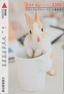 Carte Japon - ANIMAL - LAPIN 3300  - RABBIT Japan Prepaid Card - KANINCHEN CONIGLIO CONEJO KONIJN  - FR 278 - Konijnen