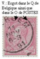 COB  N° 46 - Défaut(s) D'impression - 1884-1891 Leopold II.