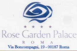 KEY CARD-ITALIA-HOTEL ROSE GARDEN PALACE-ROMA - Chiavi Elettroniche Di Alberghi