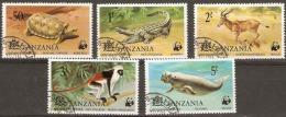 Tanzanie  1977  SG  212-6  Endangered Species  Unmounted Mint - Tansania (1964-...)