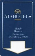 KEY HOTEL CARD-ITALIA-HOTEL ATA-BOLOGNA - Chiavi Elettroniche Di Alberghi