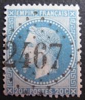 R1494/185 - NAPOLEON III Lauré N°29A - GC 2467 : MONTGISCARD (Haute Garonne) ☛☛ INDICE 9 - 1863-1870 Napoleon III With Laurels