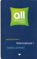 KEY HOTEL CARD-FRANCIA-ALL SEASONS - Chiavi Elettroniche Di Alberghi