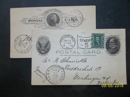 USA: 1891 & 1904 Postal Cards To Germany, Etc. (#YG1) - ...-1900
