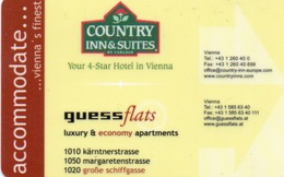 KEY HOTEL CARD-AUSTRIA VIENNA-COUNTRY-INN&SUITES - Chiavi Elettroniche Di Alberghi