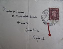 A145 - ✉️ (LSC) - CàD : PAQUEBOT - ADEN (YEMEN) 17 DEC 1938 - COURRIER POSTE EN PLEINE MER - Postmark Collection
