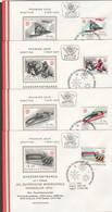 """Österreich 1975 : 4 ET/FDC """"XII.Olymp.Winterspiele, Innsbruck """" V. 14.3.1975 - FDC"""