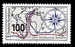 Allemagne Rep.Fed. 1993  Mi.:nr.1647 Norddeutsche Seewarte, Hamburg  Neuf Sans Charniere / Mnh / Postfris - Neufs