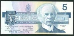 CANADA , 5 DOLLARS 1986 , P-95b , UNC - Canada