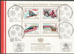 """Österreich 1975 : ET/FDC """"XII.Olymp.Winterspiele, Innsbruck """" V. 14.3.1975 - FDC"""