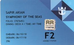 ROYAL CARIBBEAN Ship Cabin Cruise Magnetic Boarding Key Card (passager Biz) - Chiavi Elettroniche Di Alberghi