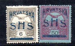 156 490 - YUGOSLAVIA SHS 1918 ,  Unificato N. 55/56  * - 1919-1929 Regno Dei Serbi, Croati E Sloveni