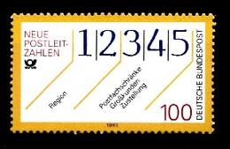 Allemagne Rep.Fed. 1993  Mi.:nr.1659 Neue Postleitzahlen  Neuf Sans Charniere / Mnh / Postfris - Neufs