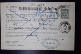 Luxembourg  Mandat D'encaissement Postauftrag Mi Nr 53  1884 - 1882 Allegorie