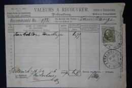 Luxembourg  Valeurs A Recouvrer Postauftrag Mi Nr 61  1896 - 1891 Adolphe Frontansicht