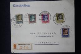 Luxembourg  Einschreiben Cover Luxembourg -> Leipzig  Dec 1930 Mi 227 - 231 - Luxemburg