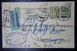 Luxembourg Uprated Einschreiben + Remboursement Postkarte  Mi 77  Diekirch -> Luxembourg  Refused And Send Back - Interi Postali