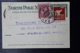 Norge Carte Postal The Trans-Polar Flight Expedition 1924, A Verso Timbre De France  RRR - Norvège