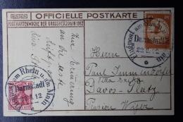 Deutsche Reich Flugpost Am Rhein - Karte Mit Nr. 1 With Private Picture  RRR - Luftpost