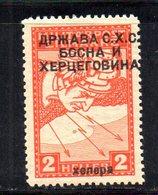 221 490 - YUGOSLAVIA SHS 1918 ,  Unificato N. 3B Nuovo *  Giornali - 1919-1929 Regno Dei Serbi, Croati E Sloveni