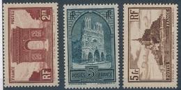 CE-53: FRANCE: Lot Avec N°258**(léger Pli)-259c*-260* - France