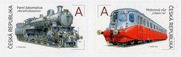 Czech Republic - 2018 - The World On Rails II – Motor Coach And Steam Engine - Mint Self-adhesive Booklet Stamp Set - Ongebruikt