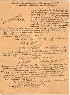 VP12.944 - MILITARIA - LE MANS 1917 - Mr MEMINI Du Génie Militaire - Solution Du Problème - Un Théorème Inattendu ..... - Documents