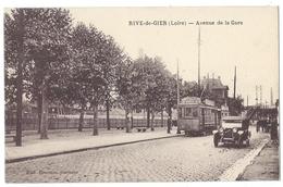 RIVE DE GIER (Loire, 42) Avenue De La Gare - Animée - Tramway - Edit. Descours - Rive De Gier