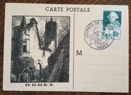 CM 1949 - YT N°828 - JOURNEE DU TIMBRE / CHOISEUL - RODEZ - 1940-49