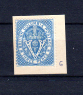 1865  Colombie Britannique, Couronne Et Lettre, 6* Sans Gomme (pliure Little Crease), Cote 110 € - Colombie