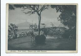 Italy Postcard Sorrento Hotel Reale Vista Of Vesuvius  Unused Dated 1939 - Napoli (Naples)