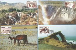 Namibia - Nr. 804-807: 4 St. Maximumkarten, Gestempelt, Unbenutzt #PK - Namibia