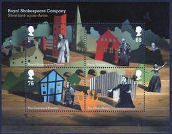 GROSSBRITANNIEN GRANDE BRETAGNE GB 2011 Royal Shakespeare Company M/S MNH SG MS3179 MI B65-3091-94 YV BF83-3487-90 - Ganze Bögen & Platten