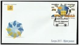 Albania Stamps 2013. CEPT Europe/Europa - Postal Means. FDC Set MNH - Albania