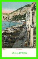 CAPRI, ITALIE -  LA MARINA GRANDE - ANIMÉE -  EDIT. E. RAGOZINO, GALLERIA - - Napoli (Naples)