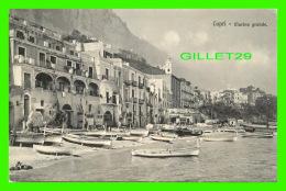 CAPRI, ITALIE -  LA MARINA GRANDE - ANIMÉE -  EDIT. BRUNNER & CO - - Napoli (Naples)