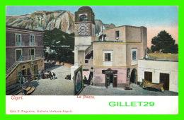 CAPRI, ITALIE - LA PIAZZA - ANIMATED- EDIT. E. RAGOZINO, GALLERIA - UNDIVIDED BACK - - Napoli (Naples)