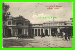 GENOVA, ITALIE - UN SALUTO DA GENOVA - STAZIONE PRINCIPE - ANIMATED -  3/4 BACK - VARIETAS - - Genova (Genoa)