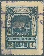 AS - Syria State 1925 General Revenue Stamp 4p Blue - Syria