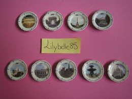 Serie Complète De 9 Fèves PERSO - ASSIETTES PARIS - LE DELICE FERTOIS - LA FERTE GAUCHER  - 2007 ( Feve Miniature Rare ) - Regions