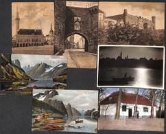 Estonia - Lot 7 Postcards Eesti Reval Tallinn Esperanto Norway (see All Scans) - Estonie