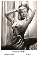 VERONICA LAKE - Film Star Pin Up PHOTO POSTCARD - A1289-1 Swiftsure Postcard - Postales