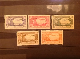 French Guinea 1940 Air Mint SG 173-7 Yv PA1-5 - Nuovi