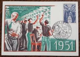 CM 1951 - YT N°879 - JOURNEE DU TIMBRE - DECAZEVILLE - 1950-59