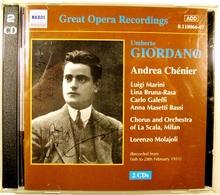 Andrea CHENIER, De U.GIORDANO. Opéra En 4 Actes. 2 Cds. Naxos.2000. - Opera