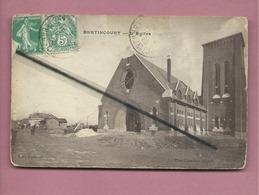 CPA Très  Abîmée  -  Bertincourt  -  L'église - Bertincourt