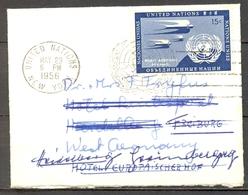 1956 , UNITED NATIONS / NACIONES UNIDAS , NUEVA YORK - FREIBURG , REDIRIGIDO A HEIDELBERG. - Cartas