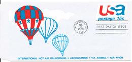 USA FDC Aerogramme 10-2-1973 International Hot Air Ballooning - 1971-1980