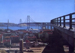 Lisboa - Ponte Salazar Sobre O Tejo - Formato Grande Viaggiata – E 7 - Cartoline